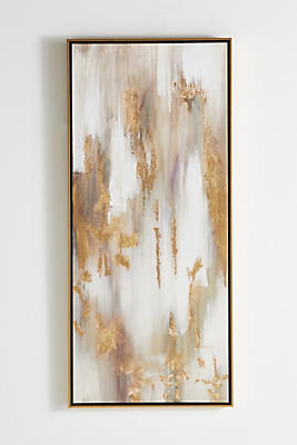 Slide View: 1: Gold Bull Triptych Wall Art