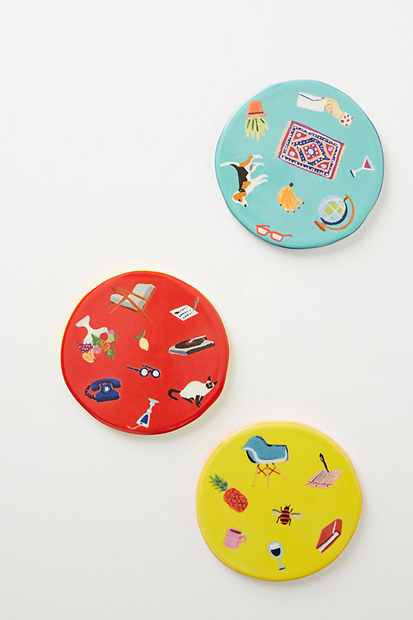 Tootie Coasters - Red, Size Coasters