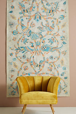 Slide View: 1: Lily Birds Tapestry