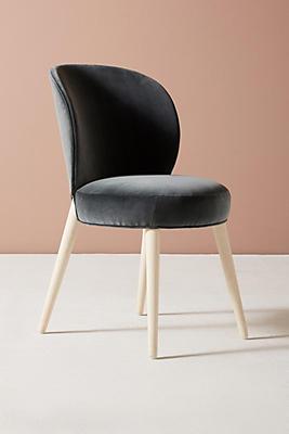 Slide View: 3: Velvet Remi Dining Chair