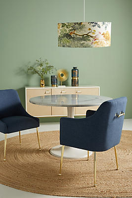 Slide View: 1: Performance Wool Elowen Dining Armchair