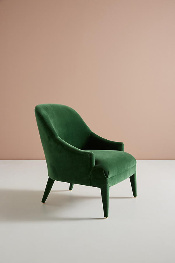 Slide View: 3: Chaise d'appoint Amelia