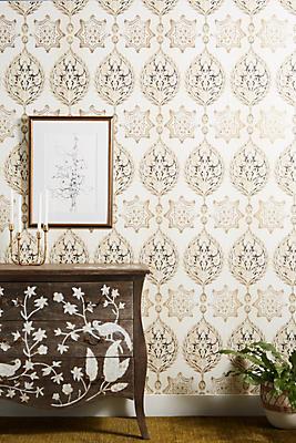 Henna Palm Stripe Wallpaper Anthropologie