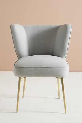 Performance Wool Clemence Dining Chair by Anthropologie