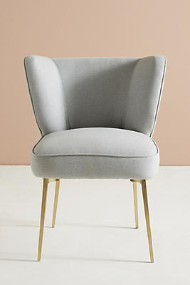 Slide View: 1: Performance Wool Clemence Dining Chair