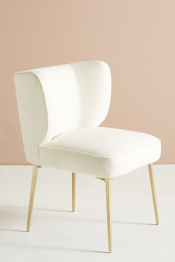 Performance Wool Clemence Dining Chair - Ivory
