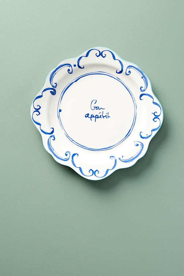 Hilde Phrase Dinner Plate - Sky, Size Dinner