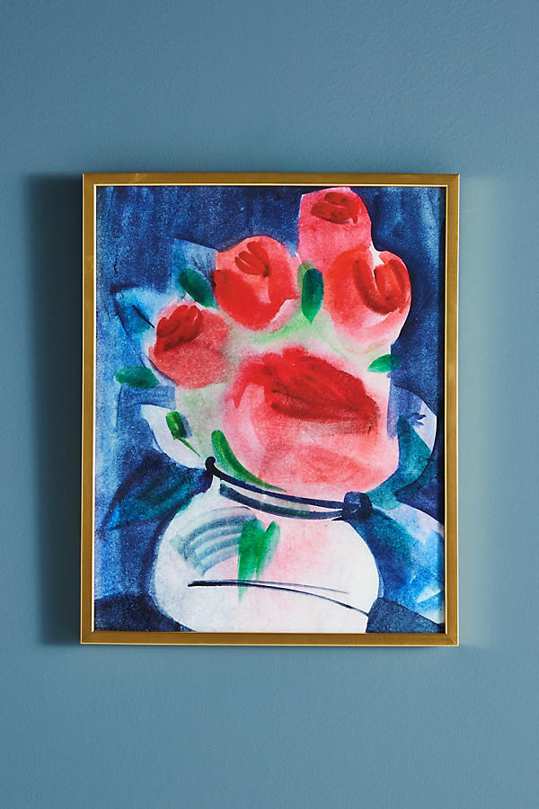 Slide View: 2: Abstracted Bouquet Wall Art
