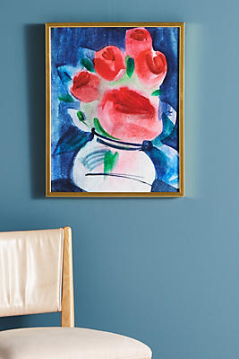 Slide View: 1: Abstracted Bouquet Wall Art