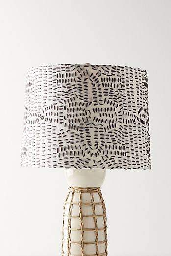 Stitched lamp shade