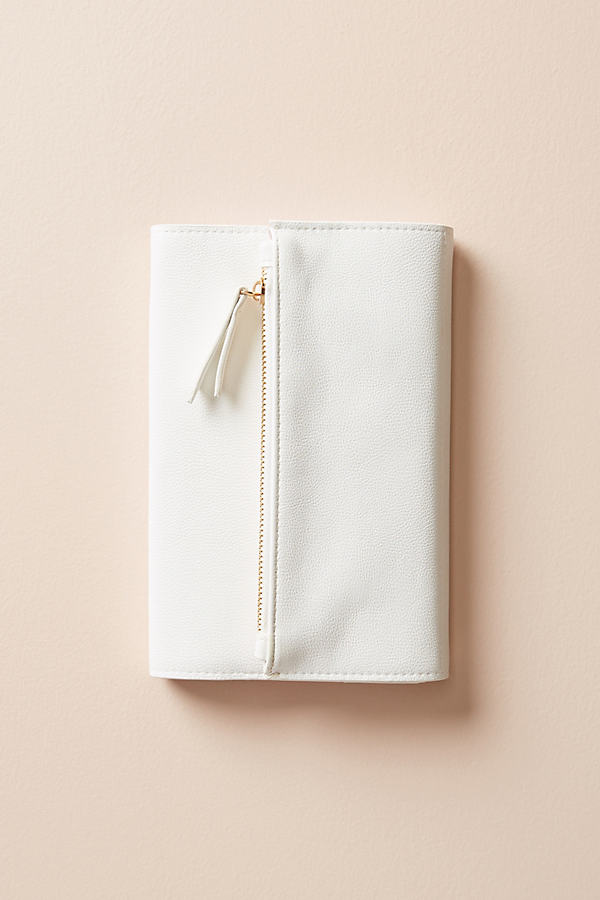 Fringe Studio Clutch Journal - White