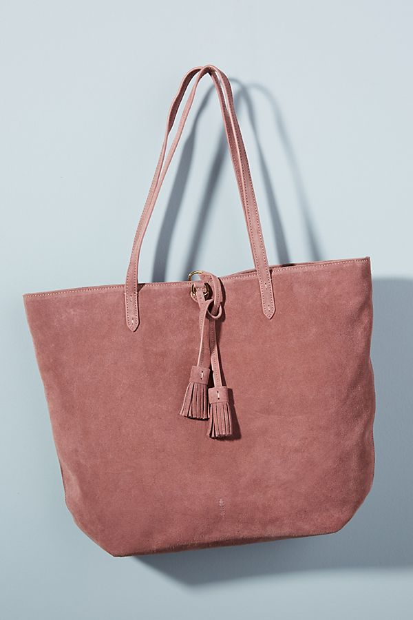 Harper Suede Tote Bag