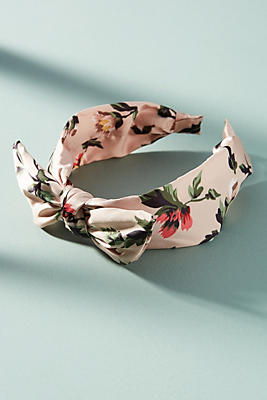 Anthropologie Satin Knot Headband c1X42