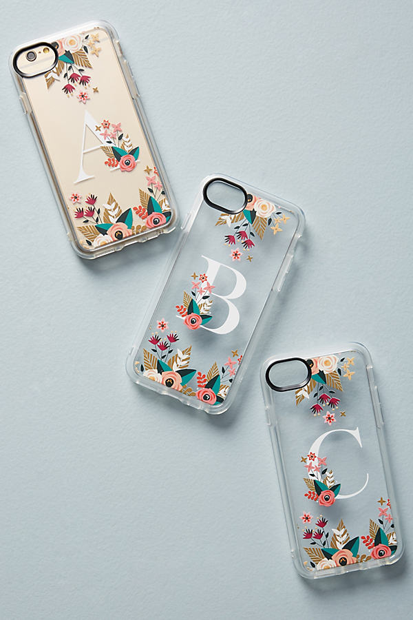 Casetify Floral Monogram iPhone 6/7 Case - A, Size Z