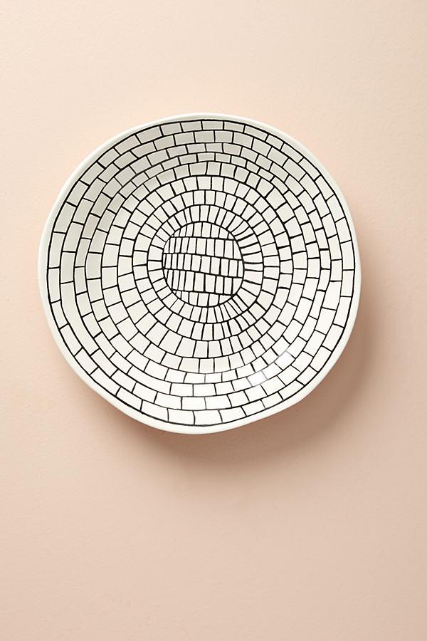 Vector Dinner Plate - Black & White, Size Dinner