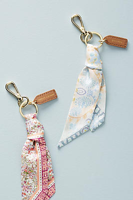 Slide View: 2: Silk Scarf Keychain