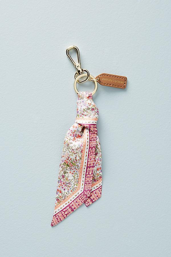 Silk Scarf Keychain - Pink