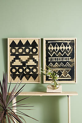 Slide View: 4: Antiqued Pattern Wall Art