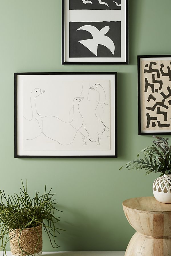 Slide View: 1: Geese Wall Art