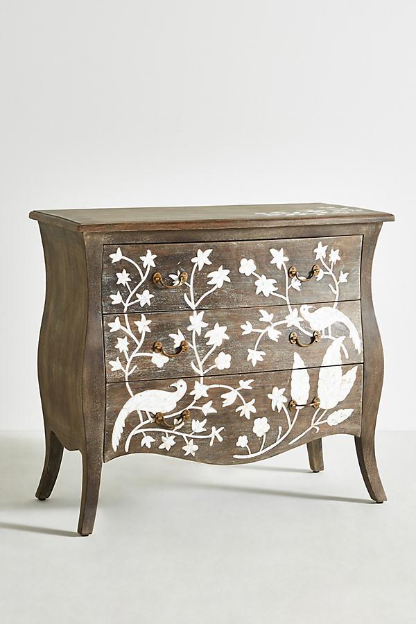 Birdsong Three-Drawer Dresser - Grey