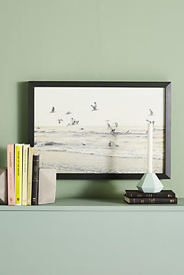 Slide View: 1: Seagulls In Flight Wall Art