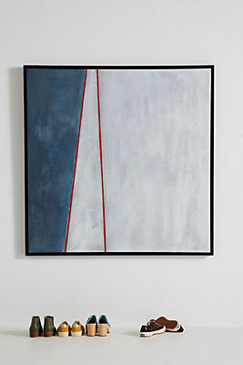 Slide View: 1: Blue White Red Wall Art