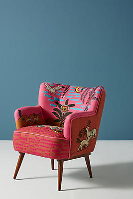 Slide View: 1: Imagined World Accent Chair