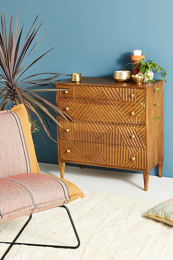 Paje Carved Dresser - Grey