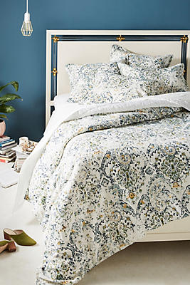 Slide View: 1: Peacock Alley Distressed Linen Stavros Duvet Cover