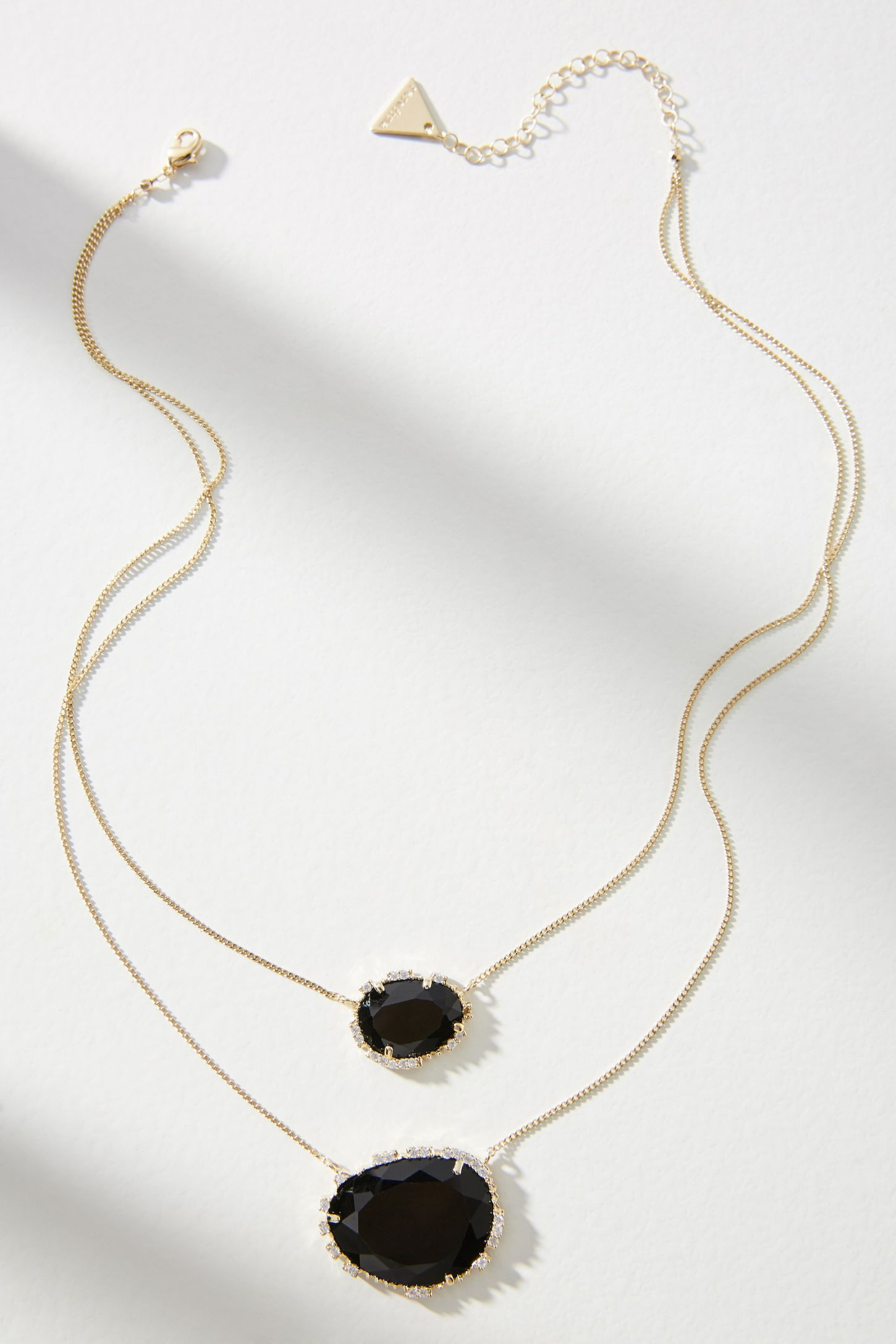 Double stone pendant necklace anthropologie slide view 2 double stone pendant necklace mozeypictures Choice Image