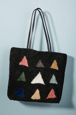Primecut Shearling Shapes Tote Bag by Primecut