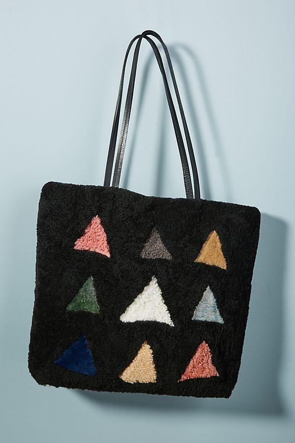 Primecut Shearling Shapes Tote Bag