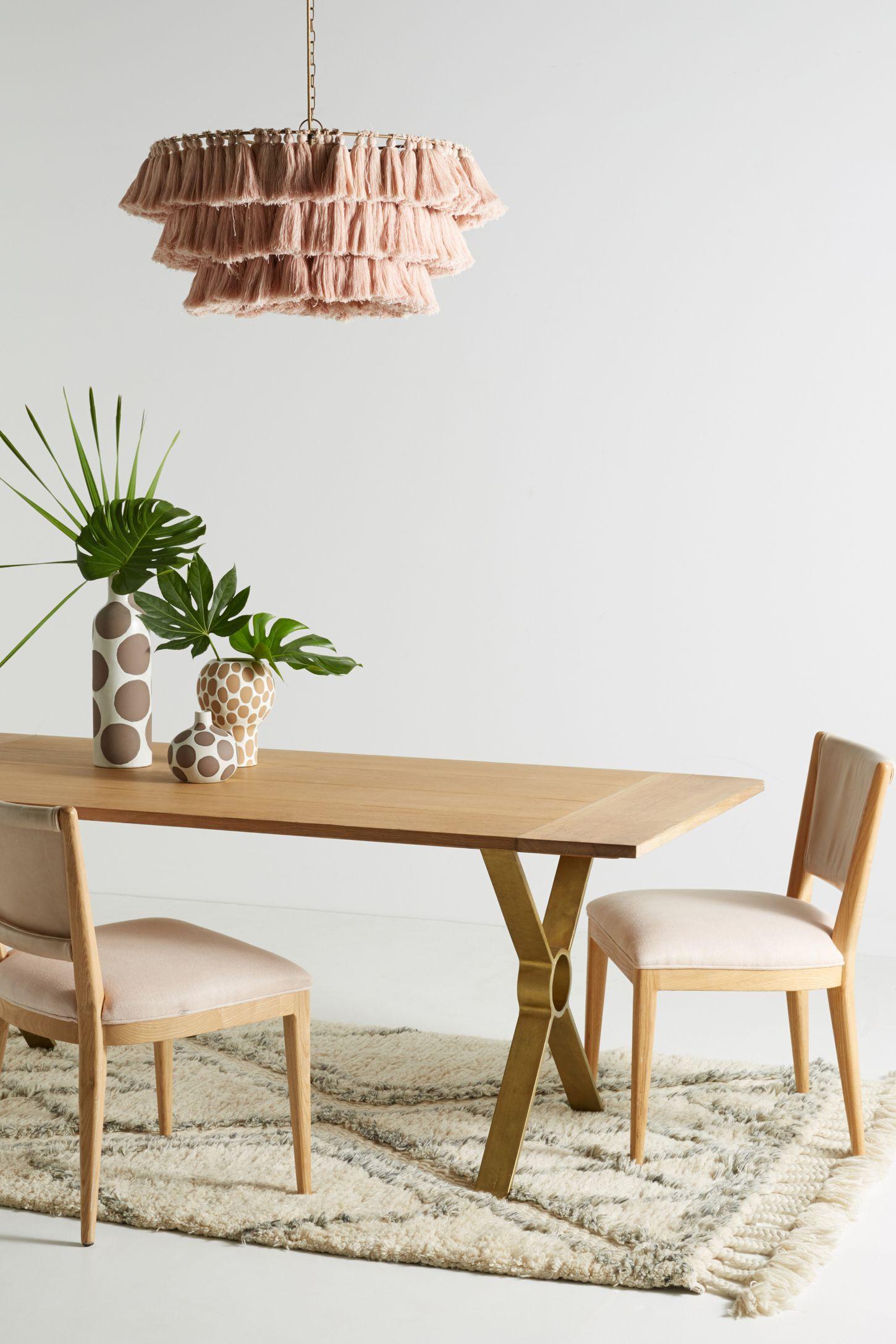 Brass Inlay Dining Table