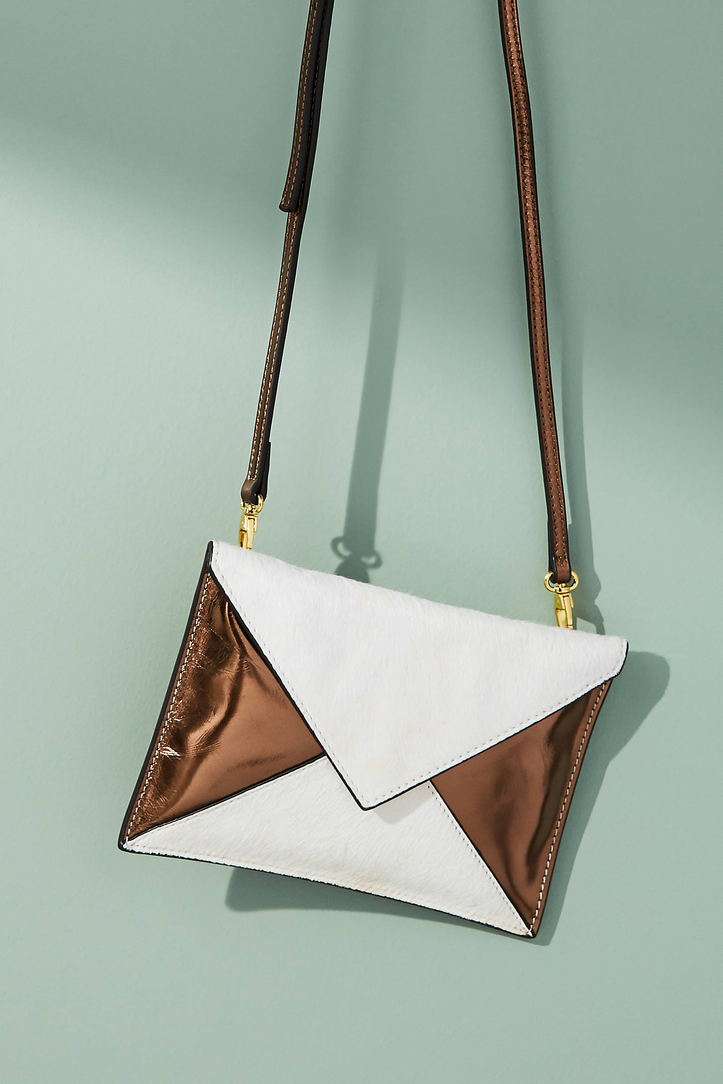 Metallic Postcard Crossbody Bag