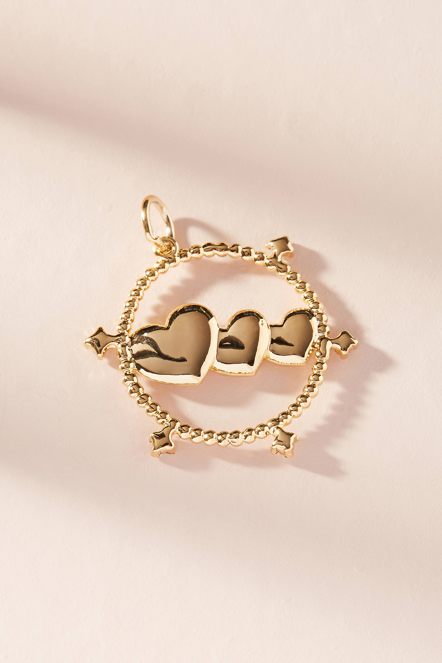 Heart Trio Charm