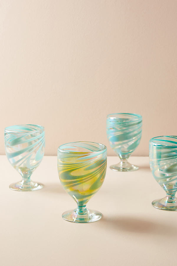 Jupiter Wine Glass Set - Mint, Size Set Of 4