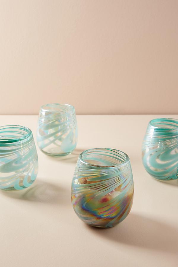 Jupiter Stemless Wine Glass Set - A/s, Size Set Of 4