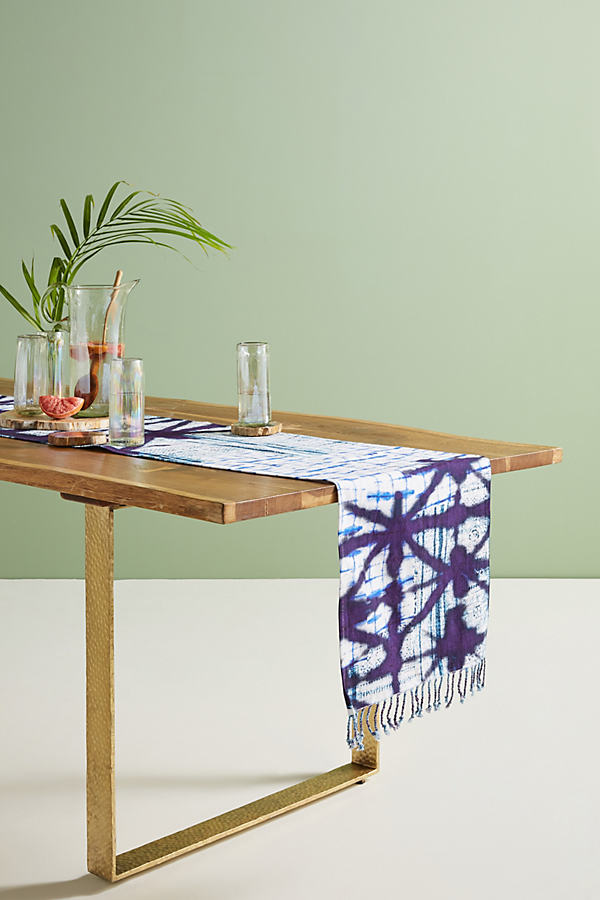 Alara Table Runner - Blue, Size Runner