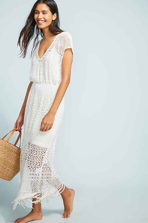 Slide View: 1: Robe maxi cache-maillot Paloma