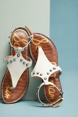 Sam Edelman   Sam Edelman Galena Studded Galdiator Sandals  -    Modern Ivory