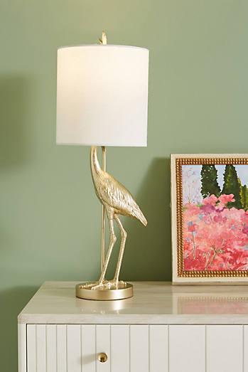 Flamingo lamp ensemble