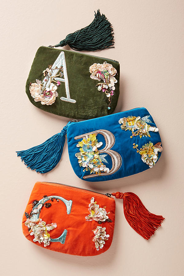 Flowering Monogram Pouch