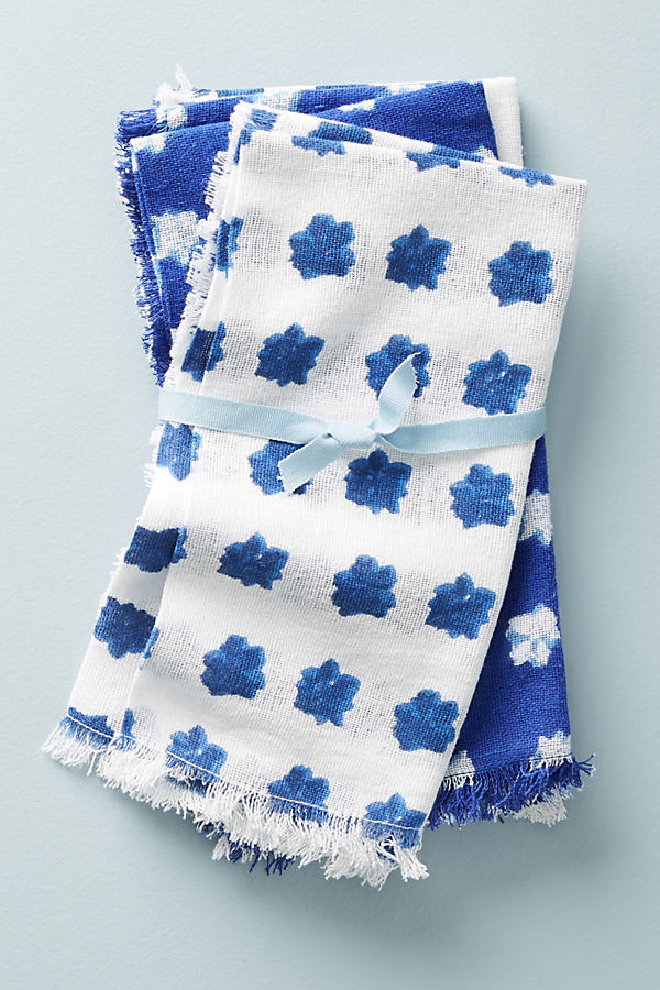 Sela Napkin Set - Blue Motif, Size Set Of 4