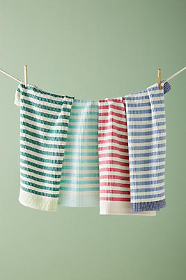 Slide View: 1: Cabana Striped Dish Towel Set