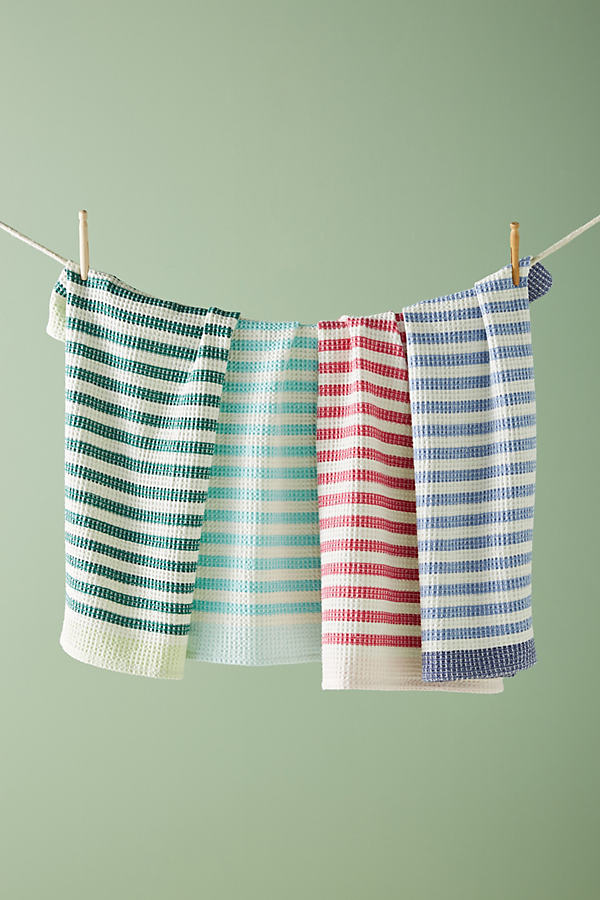 Cabana Striped Dish Towel Set - Assorted, Size Set Of 4