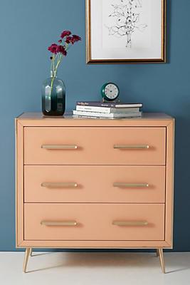 Slide View: 1: Petra Three-Drawer Dresser