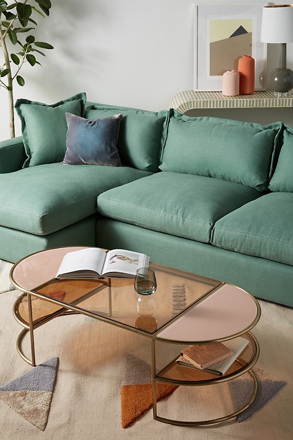 Tinted Glass Coffee Table - Peach