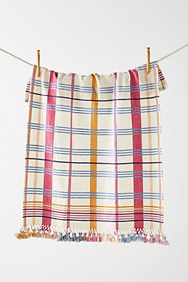 Slide View: 1: Fringed Serita Dish Towel