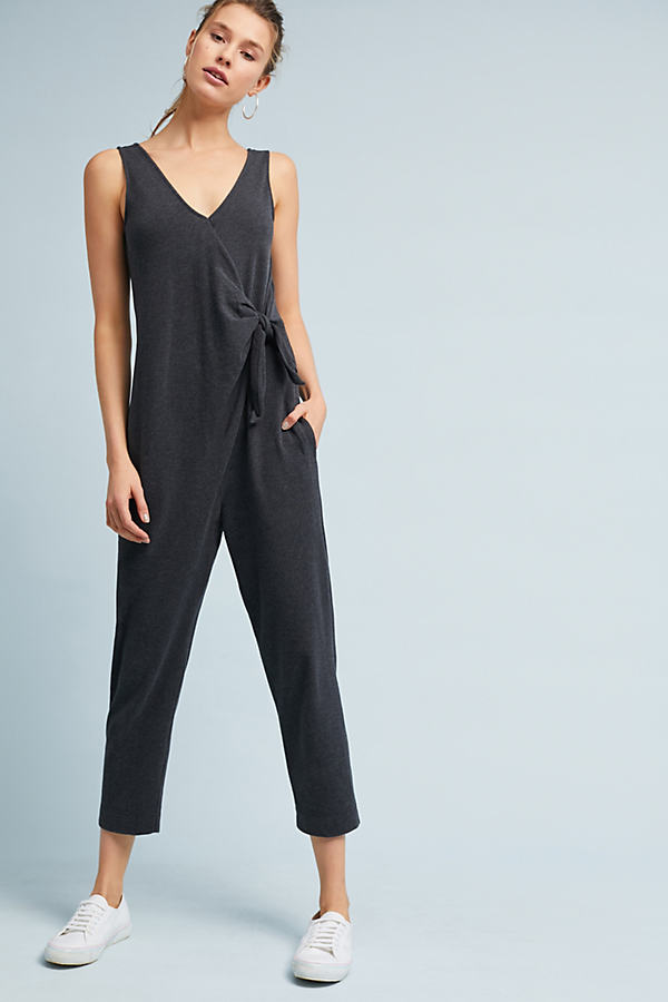 Daytripper Tied Jumpsuit - Dark Grey, Size S