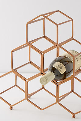 Slide View: 2: Honeycomb Wine Rack